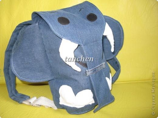 новая жизнь старым джинсам- рюкзачок фото 1
