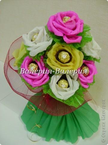 Сладкий букет из сладких роз фото 1
