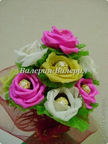 Сладкий букет из сладких роз фото 2