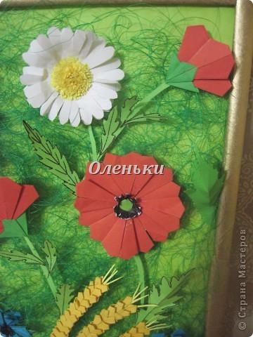 """Картина """"Полевые цветы"""" (оригами) фото 4"""