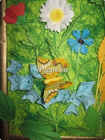 """Картина """"Полевые цветы"""" (оригами) фото 5"""