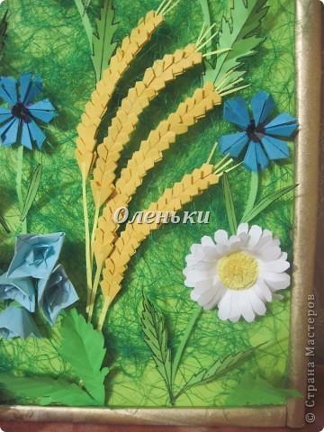 """Картина """"Полевые цветы"""" (оригами) фото 6"""