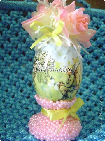 вот такие чудо яйца я сделала к пасхе  фото 1