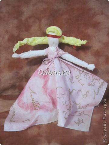 Куклы - мотанки из салфеток фото 8