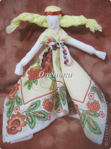 Куклы - мотанки из салфеток фото 10
