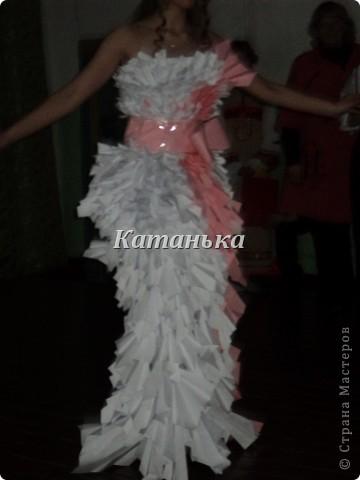 Свадебное платье из бумаги фото 2