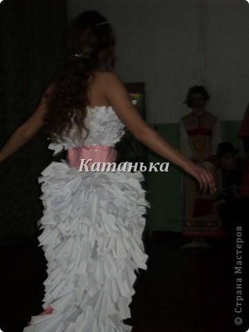 Свадебное платье из бумаги фото 3