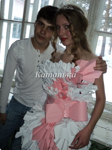 Свадебное платье из бумаги фото 1