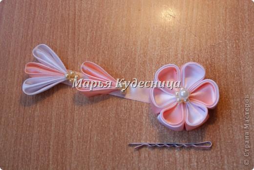 Цветочки в прически на заколки и шпильки. фото 3
