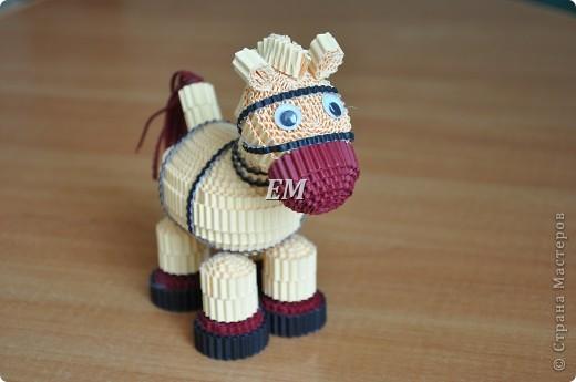 Не смогла пройти мимо лошадки Светланы http://stranamasterov.ru/node/171598?c=favorite - спасибо Вам ещё раз огромное!  В высоту лошадка получилась 14 см. фото 1