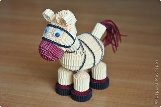 Не смогла пройти мимо лошадки Светланы http://stranamasterov.ru/node/171598?c=favorite - спасибо Вам ещё раз огромное!  В высоту лошадка получилась 14 см. фото 3