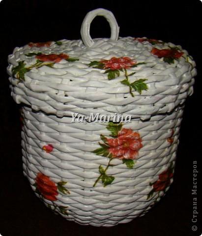 "Плетеная шкатулка для хранения всяких ""разностей"" фото 1"