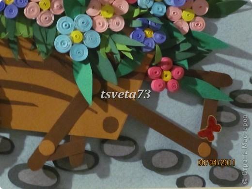 """Всем огромный привет!!!! Вот решила сделать """"Веселую арбу"""", хотела назвать """"Телега с незабудками"""" но как то с """" веселой арбой"""" мне кажется интересней.... За основу брала картинку с книги Ирины Богатовой. И вот что получилось....... фото 13"""