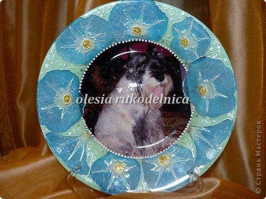 Обратный декупаж с фотографией. Использованы салфетки, акриловые краски, контуры по стеклу. фото 1