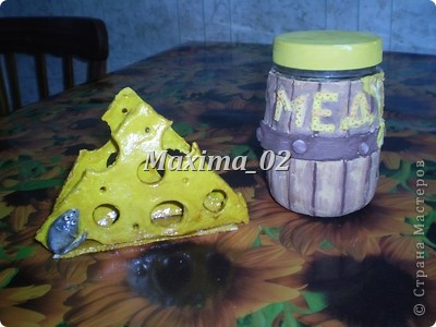 салфетница и бочка с медом(бочка еще не покрыта лаком,досыхает) фото 1