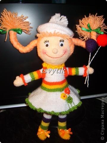 Кукла КИРА с шарами и рюкзачком! фото 1