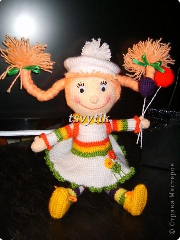 Кукла КИРА с шарами и рюкзачком! фото 3