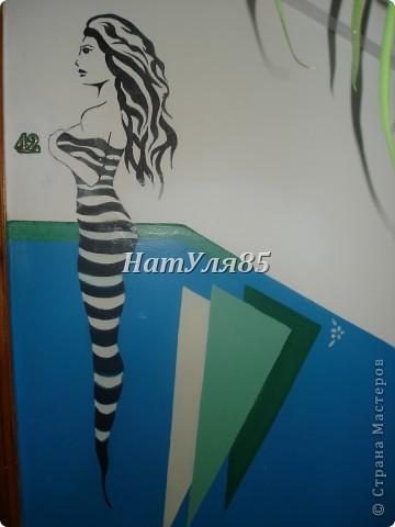 кухня,обои под покраску,по швам потолочный  багет,перекрашено водоэмульсионной краской с добавлением пегмента фото 9