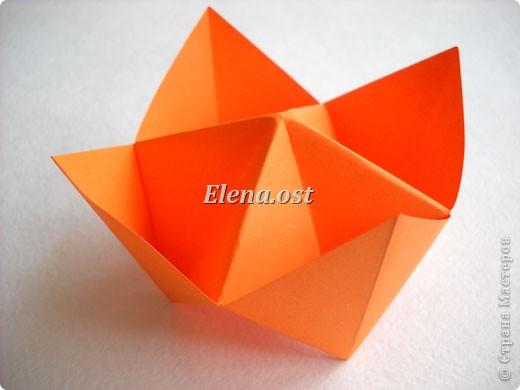 При копировании статьи, целиком или частично, пожалуйста, указывайте активную ссылку на источник! http://stranamasterov.ru/node/180014 http://stranamasterov.ru/user/9321  Пасхальная корзинка в технике оригами. Делать быстро и легко. Можно украсить по собственному замыслу. Материал для корзинки: бумага обойная. фото 12