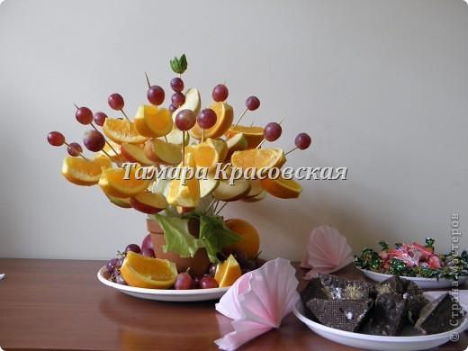 Яблоко, апельсин и  виноград - вот какой букет! на стол моим гостям - удивила их!! фото 1