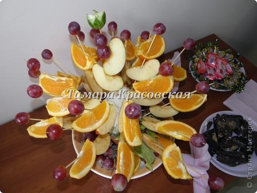 Яблоко, апельсин и  виноград - вот какой букет! на стол моим гостям - удивила их!! фото 2
