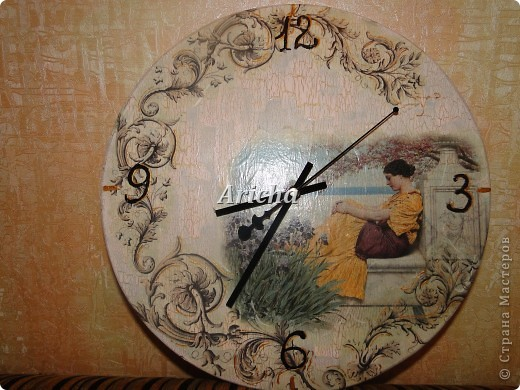 Деревянная заготовка, рисовая бумага и салфетка, одношаговый кракелюр. фото 2
