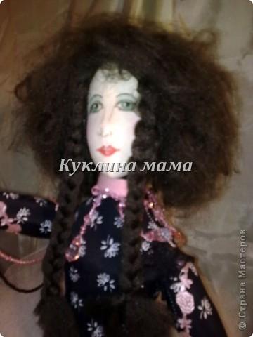 готично - эмичная куклень в розово-черных тонах фото 1