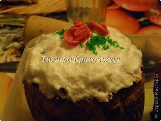 Пасха с сахарными розами фото 2
