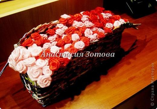 еще одна корзинка с розами фото 1