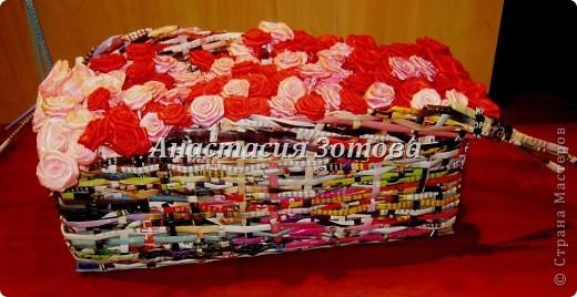 еще одна корзинка с розами фото 2