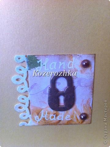 Открытка к  последней шкатулке.  Подарок моей подруге. фото 2