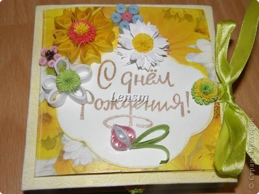 Моя первая коробочка с поздравительной открыткой.  фото 1