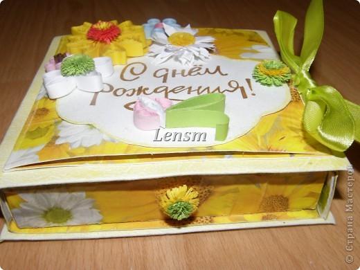 Моя первая коробочка с поздравительной открыткой.  фото 2