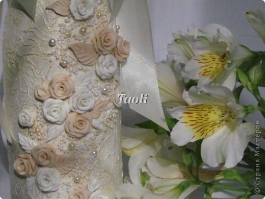 Этот набор сделан на свадьбу для моей любимой подруги. Долго ломала голову, какое же название ему дать. А потом решила, что будет он называться по имени красавицы невесты - Виктория! фото 6