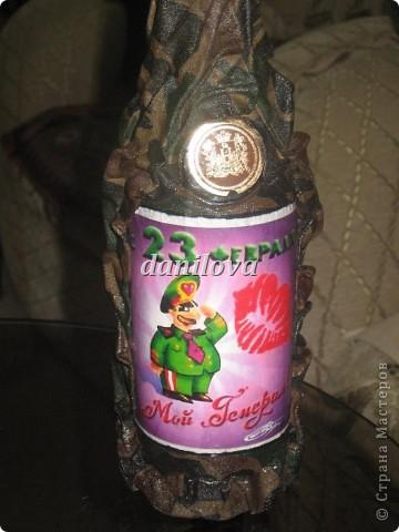 Бутылочки в подарок мужчинам на 23 февраля фото 2