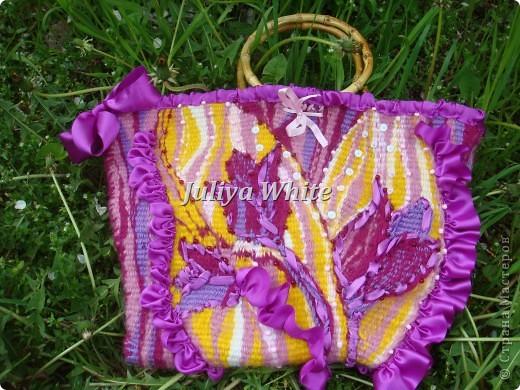 """Тканая сумка """"Цветы"""" фото 1"""