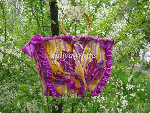 """Тканая сумка """"Цветы"""" фото 4"""