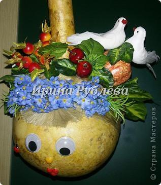 Муженёк да жёнушка. Эти сувениры-обреги  делаются из бутылочной тыквы Лагенарии. Это достаточно большие плоды, размером 35-50см. фото 4