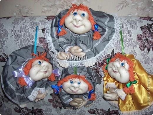 Последние посиделки подружек... Кукол делала по МК PAWY-большое ей спасибо! фото 1