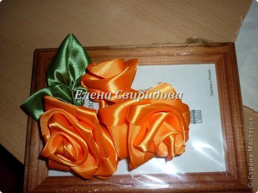 Мастер-класс Шитьё Картина с розами из атласных лент + мини МК Ленты фото 6