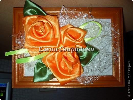 Мастер-класс Шитьё Картина с розами из атласных лент + мини МК Ленты фото 1
