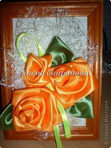 Мастер-класс Шитьё Картина с розами из атласных лент + мини МК Ленты фото 12