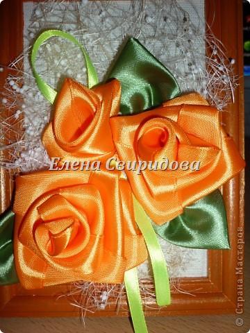 Мастер-класс Шитьё Картина с розами из атласных лент + мини МК Ленты фото 13