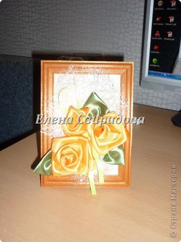 Мастер-класс Шитьё Картина с розами из атласных лент + мини МК Ленты фото 15