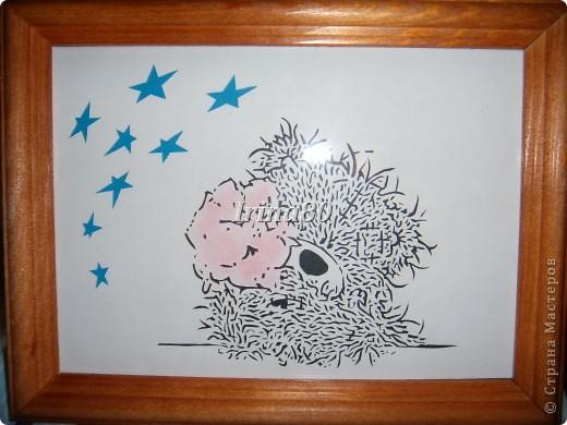 взяла картинку Теддика, обработала его в фотошопе и вырезала! Потом карандашиком подкрасила цветы и фон разный сделала для звезд и самого мишки. фото 1
