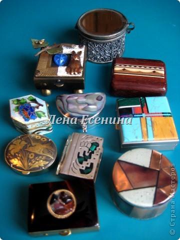 ШКАТУЛКИ, КАК ЖЕНЩИНЫ: В КАЖДОЙ - СЕКРЕТ! :) Вторая часть коллекции здесь: http://stranamasterov.ru/node/195752 Я уже много лет собираю шкатулки. Могу сказать, что с детства, так как в моей коллекции есть шкатулки, которые я купила, когда мне было 10 лет... Конечно, всю коллекцию я поставить на сайт не смогу. Жители Страны, я уверена, те люди, которые оценят эту красоту! Моя философия коллекционера: различные техники и материалы. Особенно дороги мне шкатулочки ручной работы. На фото - авторские работы (береста и твердая древесина) Андрея Лялина. фото 26