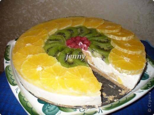 Вкусняшка! Особливо для девочек(творожный сметанник с фруктами) Для лета вариант с ягодами. фото 1