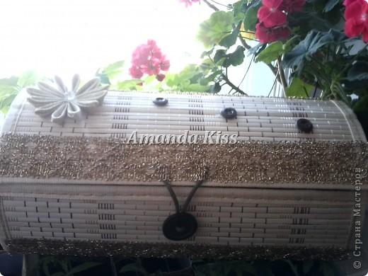 Шкатулка из бамбуковой салфетки фото 1