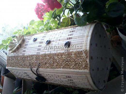 Шкатулка из бамбуковой салфетки фото 3