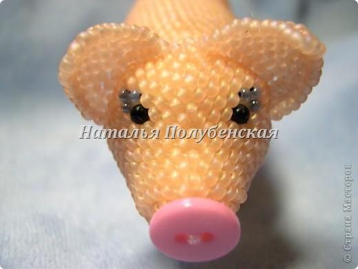 Cвинка Маня (игрушка из бисера) фото 2